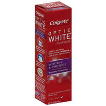 Colgate Optic White Platinum Whiten ; Protect Cool Mint Toothpaste