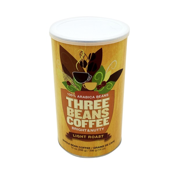 Three Beans Coffee Light Roast Whole Bean