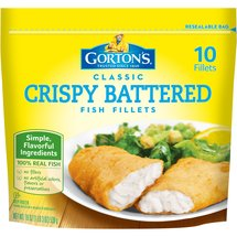 Gortons Crispy Battered 10 Ct Fish Fillets