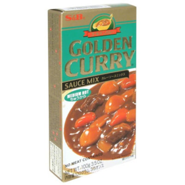 S&B Golden Curry Sauce Mix Medium Hot