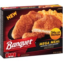 Banquet Mega Meal Boneless Fried Chicken Frozen Entree
