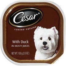 Cesar Wet Dog Food with Duck in Meaty Juices