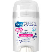 Secret Clinical Strength Mean Stinks Smooth Solid Antiperspirant & Deodorant Fearlessly Fresh Scent