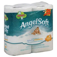 Angel Soft Bathroom Tissue Softness & Strength  - 4 CT