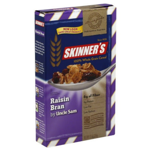 Uncle Sam Skinner's Raisin Bran Toasted Whole Wheat Berry Flakes & Raisins