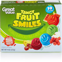 Great Value Tropical Fruit Smiles