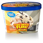 Great Value Two Much Fun! Peanut Butter Cup & Cookies & Cream Ice Cream