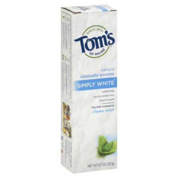 Tom's of Maine Simply White Clean Mint Toothpaste