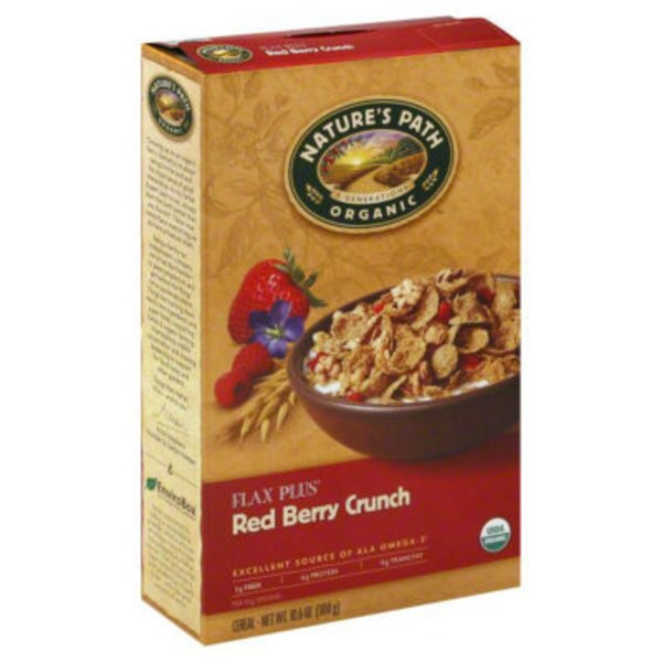 Nature's Path Organic Flax Plus Red Berry Crunch Cereal