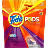 Tide PODS HE Turbo Laundry Detergent Pacs, Spring Meadow Scent, 16 count Laundry
