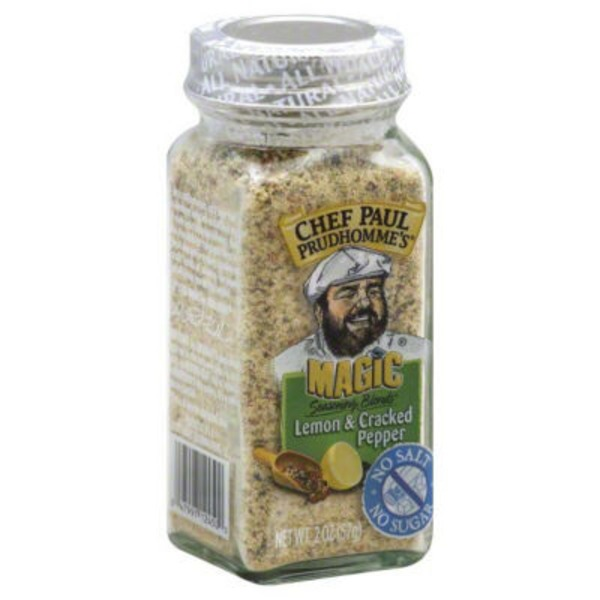 Chef Paul Prudhomme's Magic Seasoning Blends Lemon & Cracked Pepper