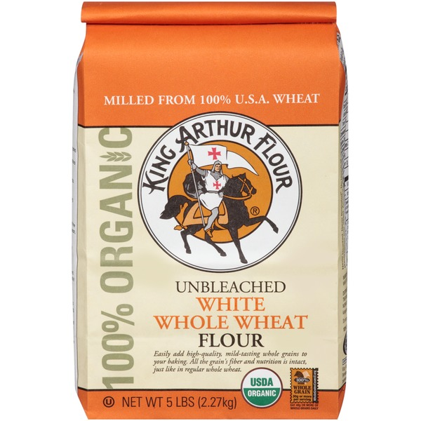 King Arthur Flour 100% Organic White Whole Wheat Flour