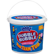 Dubble Bubble Original Bubble Gum Fun Team Tub