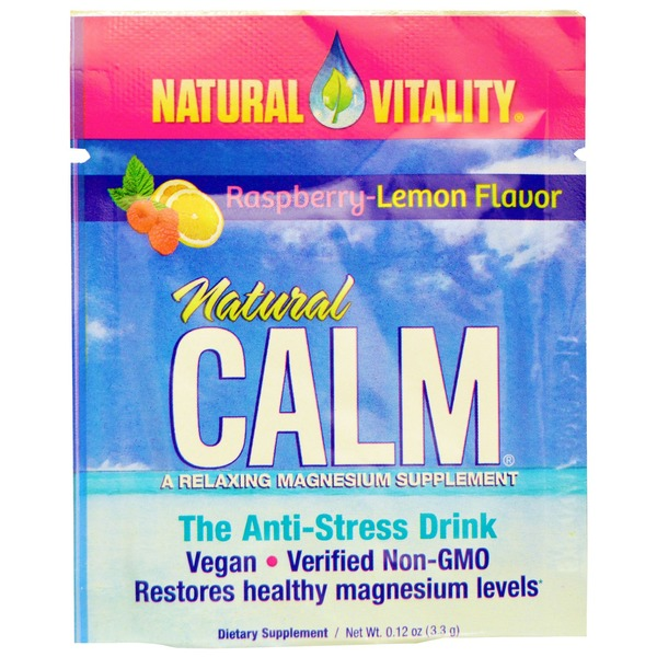 Natural Vitality Natural Calm Magnesium Supplement Raspberry Lemon Flavor Powder