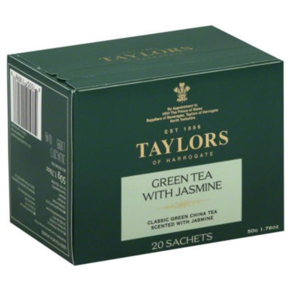 Taylors of Harrogate Tea, Green with Jasmine, Sachets