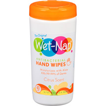 Wet-Nap Citrus Scent Antiba cterial Hand Wipes