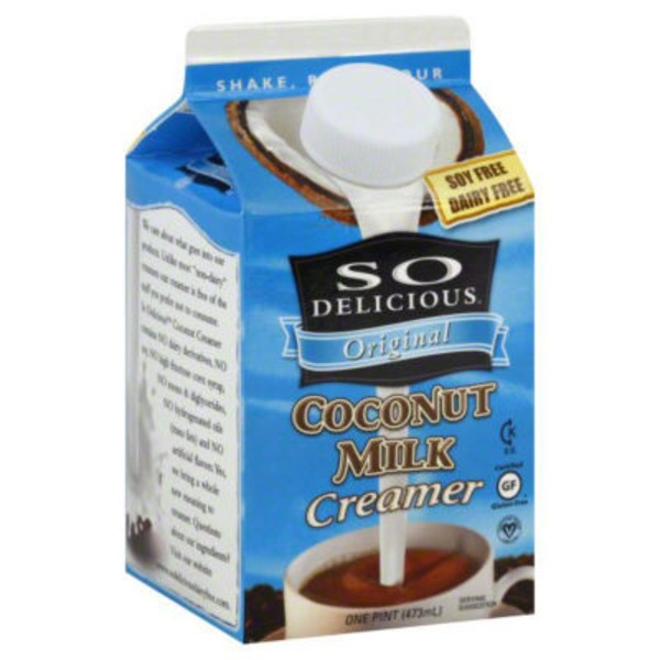So Delicious Dairy Free Coconut Milk Original Coffee Creamer