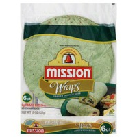 Mission Garden Spinach Herb 6 Ct Wraps