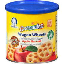 Gerber Graduates Finger FoodsApple Wagon Wheels