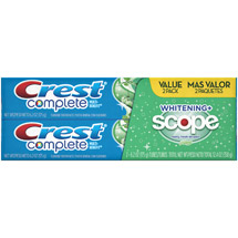 Crest Whitening + Scope Mint Toothpaste Twin Pack 6 oz