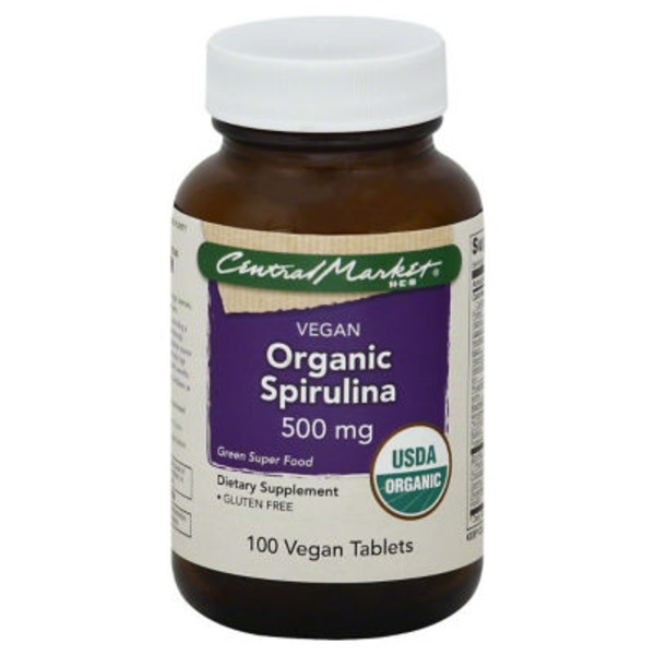 Central Market Vegan Organic Spirulina Tablets