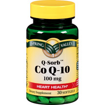 Spring Valley Q-Sorb Co Q-10 Dietary Supplement Softgels