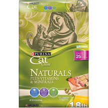 Purina Cat Chow Naturals Plus Vitamins and Minerals Cat Food Bag