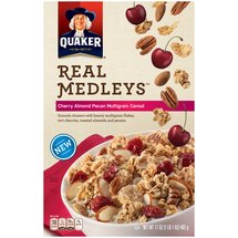 Quaker Real Medleys Cherry Almond Pecan Multigrain Cereal