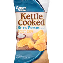 Great Value Kettle Cooked Salt & Vinegar Flavored Potato Chips