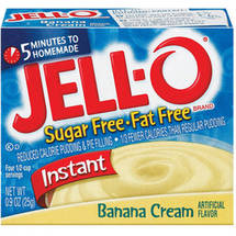 Jell-O Sugar Free & Fat Free Banana Cream Instant Pudding & Pie Filling