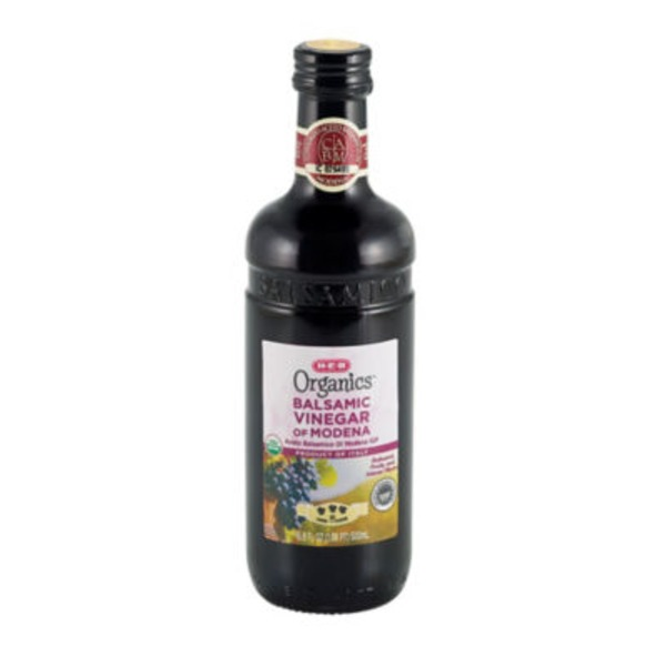 H-E-B Organics Balsamic Vinegar Balanced Fruity And Intense Flavor