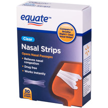 Equate Nasal Strips Clear
