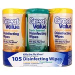 Great Value Fresh/Lemon Scented Disinfecting Wipes