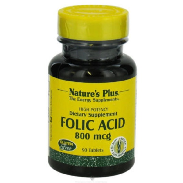 Nature's Plus Folic Acid 800 Mcg Tablets