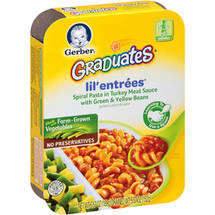 Gerber Graduates Lil' Entrees Spiral Pasta in Turkey Meat Sauce with Green & Yellow Beans