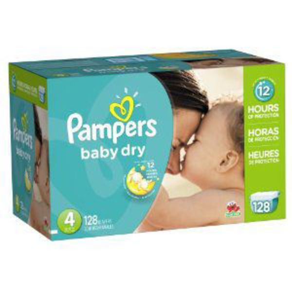 Pampers Baby Dry Pampers Baby Dry Diapers Size 4 128 Count Diapers