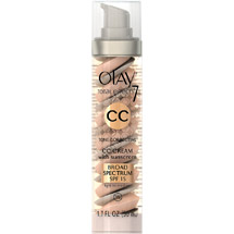 Olay CC Cream Total Effects Tone Correcting Facial Moisturizer with Sunscreen Light to Medium