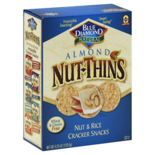 Blue Diamond Almond Nut-Thins Nut & Rice Cracker Snacks