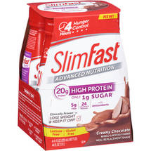 SlimFast Advanced Nutrition Creamy Chocolate Meal Replacement Shakes