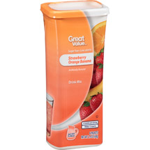 Great Value Strawberry Orange Banana Drink Mix