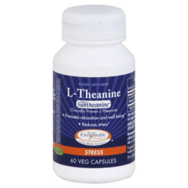 Enzymatic Therapy L-Theanine  Vegetarian Capsules