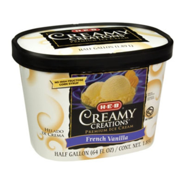 H-E-B Creamy Creations French Vanilla Ice Cream