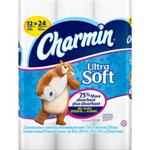 Charmin Ultra Soft Toilet Paper Double Rolls