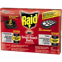 Raid Double Control 12 Small Roach Baits Plus 3 Egg Stoppers