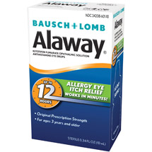 Alaway Itch Relief Original Prescription Strength Eye Drops