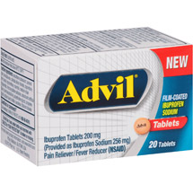 Advil Ibuprofen Pain Reliever/Fever Reducer Tablets