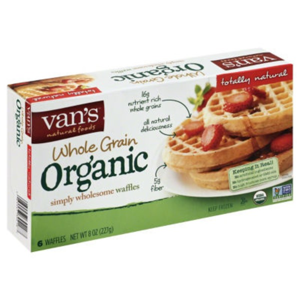 Van's Whole Grain Organic Waffles, Totally Original