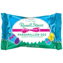 Russell Stover Marshmallow Easter Egg Covered in Milk Chocolate