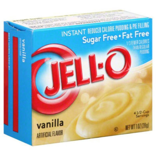 Jell-O Sugar Free Fat Free Vanilla Instant Reduced Calorie Pudding & Pie Filling Mix