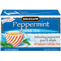 Bigelow Peppermint All Natural Caffeine Free Herb Tea Bags